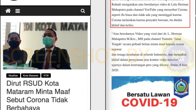 Hoax Dokter Klarifikasi Corona Sepele