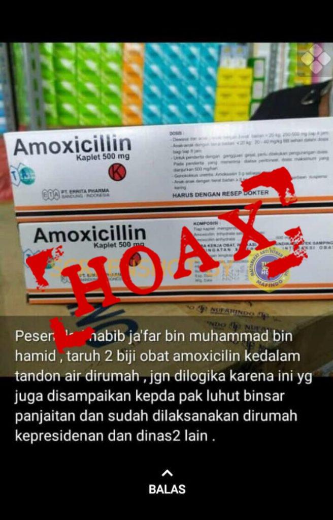 Hoax Amoxillin untuk Corona