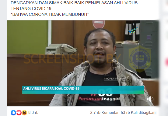 Hoaks Video Ahli Virus