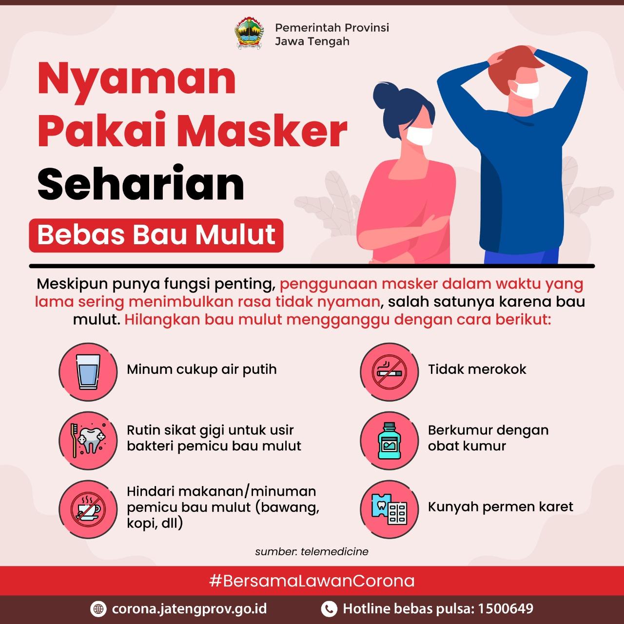 Tips Nyaman Pakai Masker Seharian