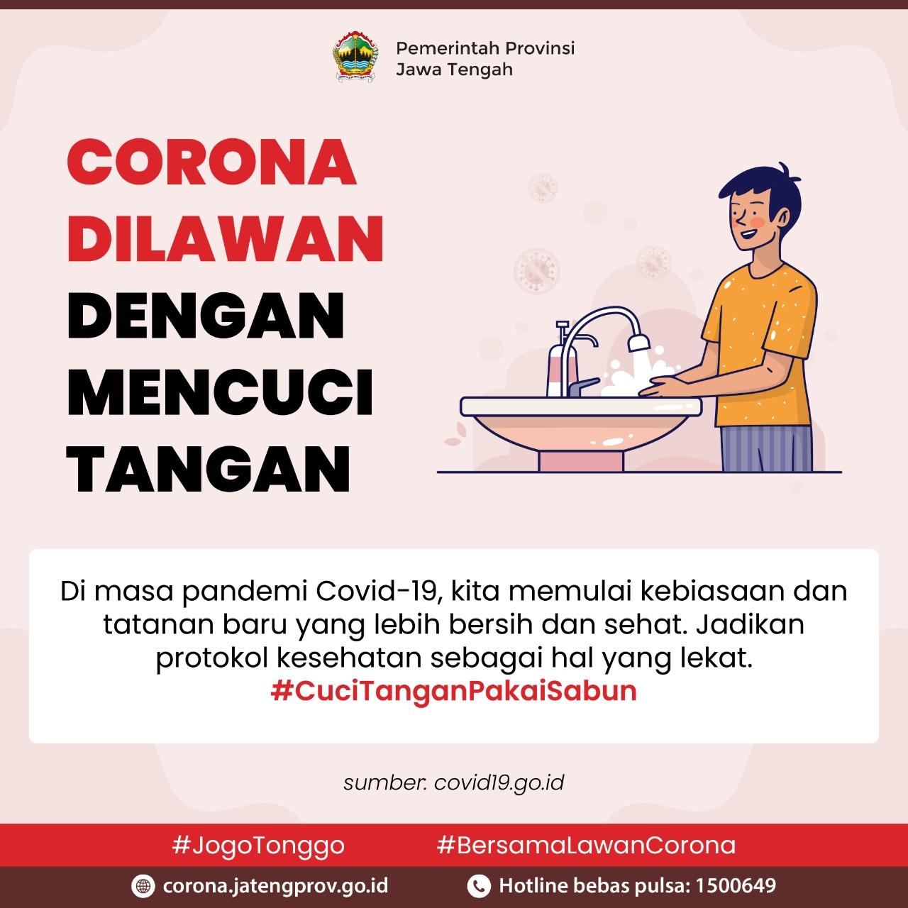 Corona Dilawan dengan Cuci Tangan
