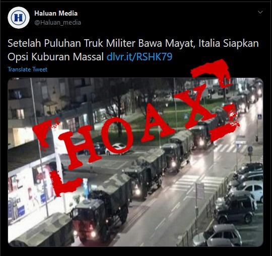 Hoax Mayat Italia