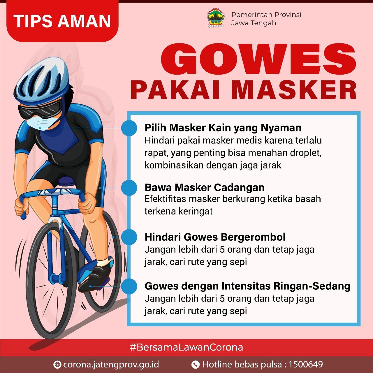 Gowes Pakai Masker Tetap Nyaman