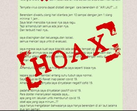 Hoax Corona Air Laut