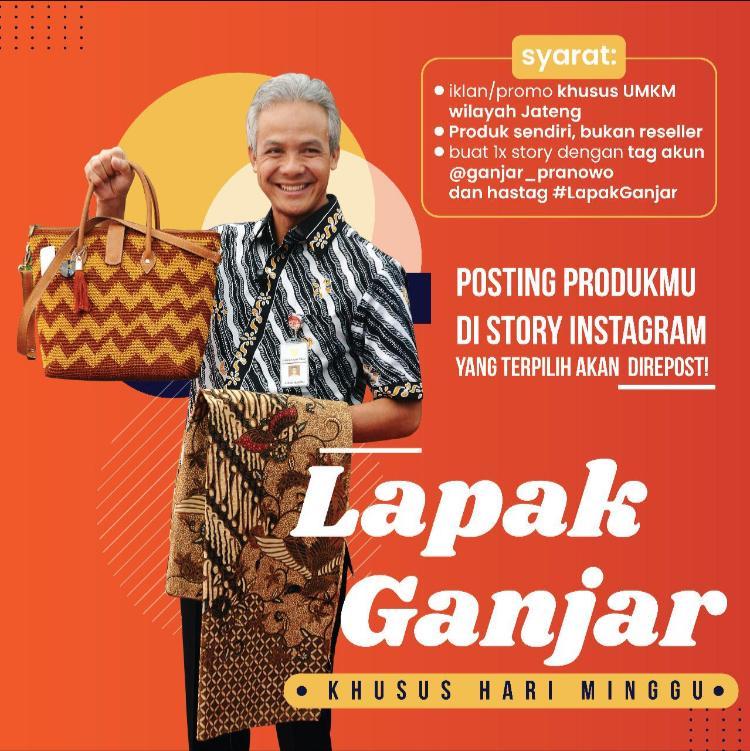 Ganjar Pranowo Siapkan 'Lapak Ganjar' untuk Promosikan UMKM Warga